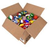 Bälle als Staatsflaggen der Weltländer Lizenzfreies Stockbild