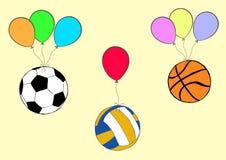 Bälle auf Ballonen Lizenzfreies Stockbild