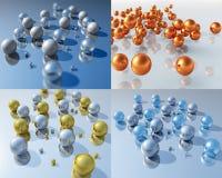 Bälle 3D lizenzfreie abbildung
