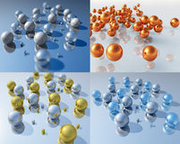 Bälle 3D Lizenzfreie Stockfotografie