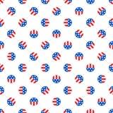 Bälle in den amerikanischen Staatsflaggefarben Stockfotografie
