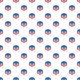 Bälle in den amerikanischen Staatsflaggefarben Stockbilder