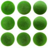 Bälle des grünen Grases eingestellt Lizenzfreie Stockfotografie