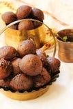 Bälle gebratenen Reises Unniyappam für vishu Festival auf Kerala Stockfoto