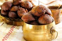 Bälle gebratenen Reises Unniyappam für vishu Festival auf Kerala Stockbild