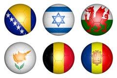 Bälle mit Flaggen lizenzfreie abbildung