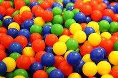 Bälle mit Vielzahlfarbe Stockfotografie