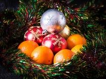 Bälle + Tangerinen Stockfotografie