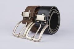 Bälte för läder två Royaltyfri Fotografi