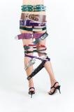 bälten stänger upp flickaben s Fotografering för Bildbyråer