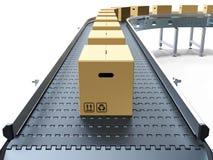 bältet boxes papptransportören vektor illustrationer