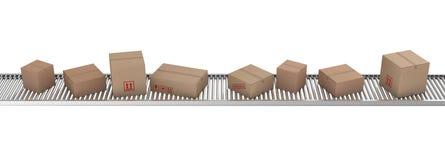 bältet boxes papptransportören royaltyfri illustrationer