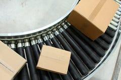 bältet boxes transportören Arkivfoto