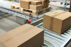 bältet boxes transportören Royaltyfria Foton
