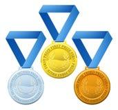 Bända medaljer Arkivfoto