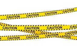 Bänder der Vorsicht 3d vektor abbildung