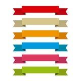 Bänder stellten für schreiben nach innen, differents Farben ein Lizenzfreie Stockfotografie