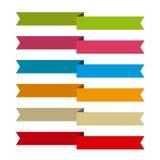 Bänder stellten für schreiben nach innen, differents Farben ein Stockbilder