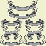 Bänder u. beschädigten die eingestellten Bänder Stockbild