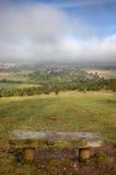 bänk england som förbiser den oxfordshire townen Royaltyfri Fotografi