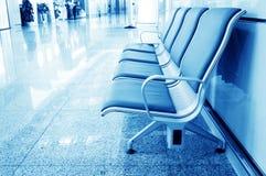 Bänk i den shanghai pudong flygplatsen Royaltyfri Bild