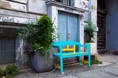 Bänk i Kreuzberg Fotografering för Bildbyråer