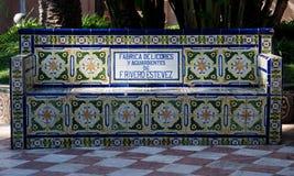 Bänk i Santa Cruz de Tenerife, Spanien Royaltyfri Fotografi
