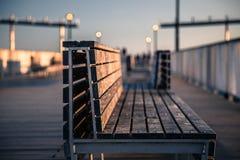 Bänk på Coney Island Royaltyfria Foton