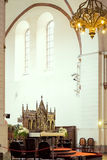 Bänkar i Lutherankyrka Royaltyfria Bilder