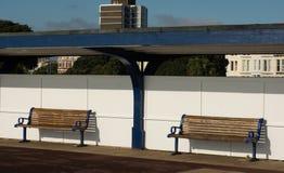 Bänke auf Seeseitepromenade Southsea portsmouth Lizenzfreies Stockbild