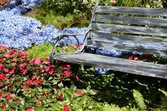 bänkträdgård royaltyfri fotografi