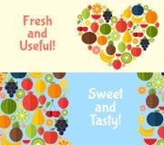 Bär frukt banervektorillustrationen Arkivbilder