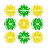 Bär frukt citronen och limefrukt stock illustrationer