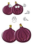 Bär frukt den gemensamma fikonträdet för den nya tecknade filmen teckenet Royaltyfri Foto