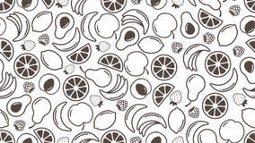 Bär fruktt bakgrund stock illustrationer