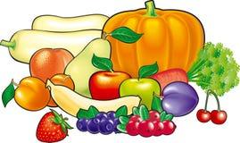 bär fruktt grönsaker vektor illustrationer
