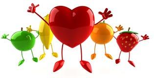 bär fruktt hjärta Arkivbild