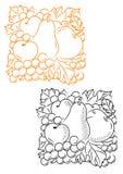 Bär fruktt smyckning royaltyfri illustrationer