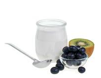 bär fruktt yoghurt royaltyfri foto