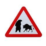 Bär gegen Bull Stockbild