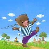 Bär gehen zu fischen Stockfoto