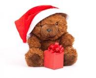 Bär mit Geschenk Stockbilder