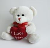 Bär mit Herzen 2 stockbild