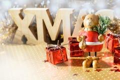 Bär mit Weihnachtsbaum Lizenzfreie Stockfotos
