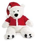 Bär mit Weihnachtshut Lizenzfreie Stockfotos