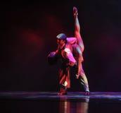 Bär på baksida-identiteten av dentango dansdramat Royaltyfri Fotografi