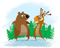 Bär und Elche Stockfotos