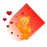 Bär und Herzen Lizenzfreies Stockfoto