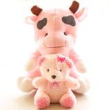 Bär und Kuh Stockbild
