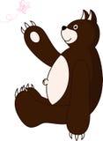 Bär und Schmetterling Lizenzfreies Stockbild